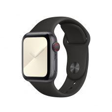 Спортивный ремешок для Apple Watch 42/44 мм (Черный)