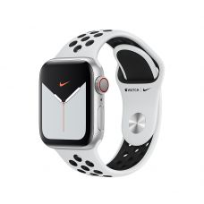 Спортивный ремешок Nike для Apple Watch 42/44 мм, «Чистая платина/чёрный»